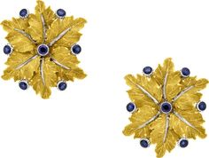 Sapphire, Gold Earrings, Buccellati. ...