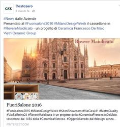 CostoZero | #ceramicafrancescodemaio | #MilanoDesignWeek