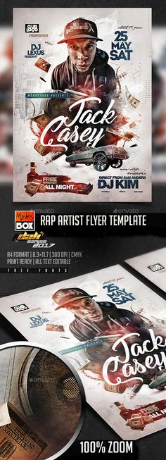 Rap Artist Flyer Template PSD
