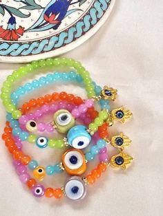 Evil eye bracelet Turkish bracelet  amulet bracelet by Nezihe1