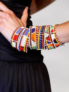 "tribal bracelets! Joyce Lewis says, ""These are amazing! As beautiful as any group of expensive bangles!"""