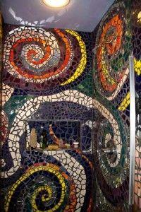 mosaics in garden?