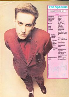 Frontman with The Specials and Ska Royalty, born on this day in Gorillaz, Coventry, Fun Boy Three, Ska Music, Music Icon, Terry Hall, Acid House, Northern Soul, Musica
