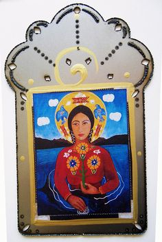 Our Lady of the Sacred Waters Christina Miller, Our Lady, Unique Jewelry, Handmade Gifts, Water, Artist, Painting, Vintage, Etsy
