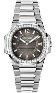 7010/1G-010 Patek Philippe Nautilus Womens 18K White Gold Watch | WatchesOnNet.com