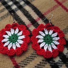 Crochet Earrings, March, Jewelry, Fashion, Stud Earrings, Crocheting, Tejidos, Needlepoint, Awesome