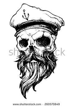 stock-vector-skull-with-beard-and-captain-hat-260570849.jpg (319×470)