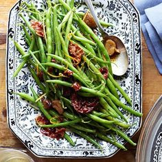 8 Tasty Spring Vegetable Recipes: green beans with pancetta and browned butter