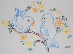 Would be so cute embroidered on a little one's dress