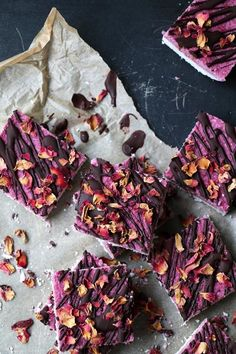 Raw, dairy-free coconut and raspberry bars