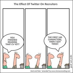 Twitter and CV's :)