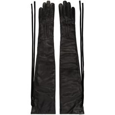 Ann Demeulemeester Black Joris Long Gloves ($510) ❤ liked on Polyvore featuring accessories, gloves, black, opera gloves, ann demeulemeester, elbow length gloves, velvet glove and long velvet gloves