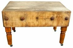 1940s Commercial Butcher Block Table | Cuisine Theme | One Kings Lane