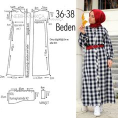 What I& Sewing: Practical Maxi Dress Up (Sewing, Fashion, Design) - Her Crochet Easy Sewing Patterns, Clothing Patterns, Dress Patterns, Hijab Mode, Abaya Pattern, Diy Kleidung, Abaya Designs, Fashion Sewing, Diy Dress