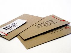 Clothing tag sewn onto business card