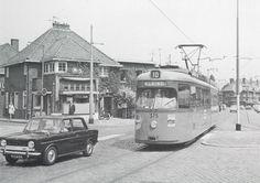 Kleiweg lijn 10, in 1967. Links was de bakkerij Van der Meer en Schoep waar ik op zaterdagmiddag mijn zakgeld verdiende.