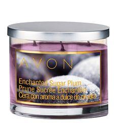 Avon: Enchanted Sugar Plum Scented Candles http://stephaniepawlowski.avonrepresentative.com/