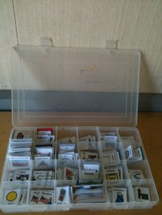 Great way to store pecs for visual schedules.