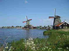 Windmills at a Dutch village