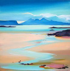 Scottish Artist Pam CARTER - Stream to Rum