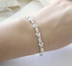 Simple and darling Sterling Silver Wire Wrapped Bracelet