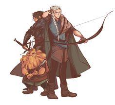 Turin, Beleg, and Mim, the ancient Aragorn, Legolas and Gimli.