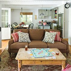 Lakeside Cabin Makeover | Living Room | SouthernLiving.com