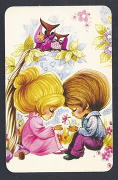 920-228-blank-back-swap-card-EXC-Joy-Boy-Girl-with-owls