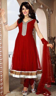 bee5aef21707f Traditional Plus Size Crimson Chudidar Kurta Dress Price  Usa Dollar  158