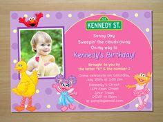 Sesame Street Invitation Diy Printable Jpeg Sesame Street