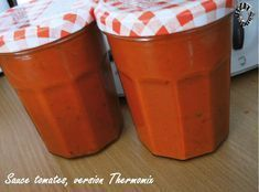 Sauces tomates (Thermomix) Sauce Tomate Thermomix, Sauces, Gluten, Tableware, Recipes, Cakes, Tomato Sauce Recipe, Skinny Kitchen, Drink
