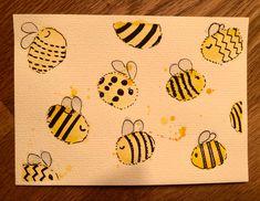 Passend zum Frühling hab ich eine BEE HAPPY Karte gemalt. Ist ganz einfach und kann auch mit Kindern schnell gemacht werden. Vielleicht sogar mit Fingerabdrücken.... #bienen #gelb #karte #kartenbasteln #kartengestalten #diy #aquarell #happy #malen #malenmitkindern #glückwunschkarte #fingerabdruck #geschenkideen #bee #frühling #spring Baby, Watercolor Map, Finger Print, Parenting, Baby Humor, Infant, Babies, Babys