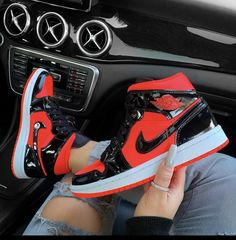 Currently waiting for summer like🥵😫 thank you for these 🙌🏽 Crimson Air Jordan 1 Mid Jordan Shoes Girls, Jordans Girls, Girls Shoes, Air Jordans, Retro Jordans, Cute Sneakers, Shoes Sneakers, Jordans Sneakers, Zapatillas Nike Basketball