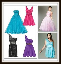 Design your own prom dress using sewing patterns. Prom dresses are very expensive. Not a bad idea to consider.