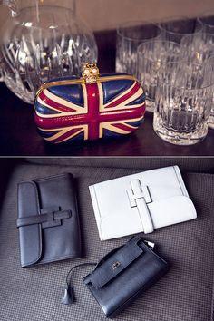 Bethenny Frankel at Home in New York City - Alexander McQueen clutch & Hermés bags