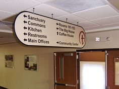 ceiling mounted signs - Google Search