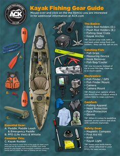 ACK Kayak Fishing Gear Guide: A Visual Presentation - ACK - Kayaking, Camping, O