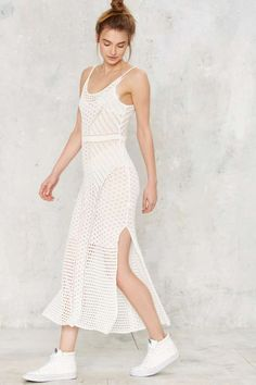 No Way Crochet Knit Dress