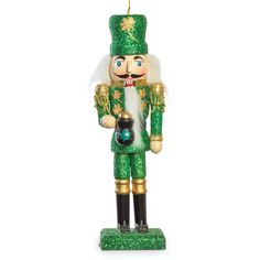 Salute your Irish heritage—and decorate your tree—with a glittering green nutcracker ornament. Nutcracker Ornaments, Christmas Ornaments, Celtic Christmas, How To Make Tutu, Irish Traditions, Funny Tattoos, Baby Costumes, Crafts To Sell, Nutcrackers