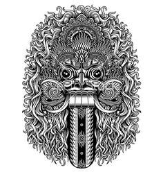 Rangda Demon Mask (Bali) Dance Vector, Vector Art, Roof Decoration, Balinese Cat, Bali Girls, Location Icon, Palm Tree Vector, Triangle Vector, Indonesian Art