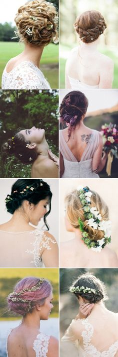 wedding updos with flowers