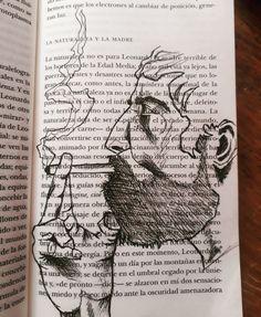Realizado sobre un libro, rotulador- A5. War, Im A Mess, Middle Ages, Book, Artists