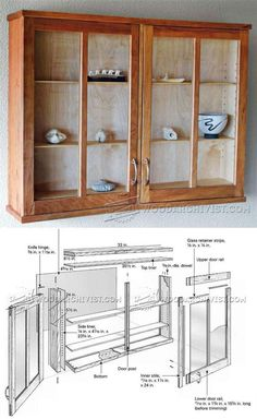 Cherry Display Cabinet Plans - Furniture Plans and Projects | WoodArchivist.com