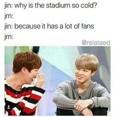 BTS Not gonna lie Jin actually kills me with his jokes lol he's cute Bts Namjoon, Bts Jin, Bts Bangtan Boy, Jimin, Taehyung, Foto Bts, K Pop, Kung Lao, Jin Dad Jokes