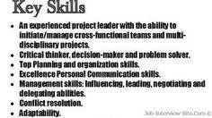 Resume Abilities Examples