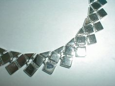 coro necklace vintage tessellated silver by fadedglitter42263, $225.00