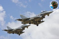 Austrian Typhoons landing. Since mid June, more than 40 Eurofighter Typhoons belonging to the German, Italian and Austrian Air Force have deployed to Decimomannu airbase, in Italy, to undertake training activities in the large training ranges surrounding Sardinia island.