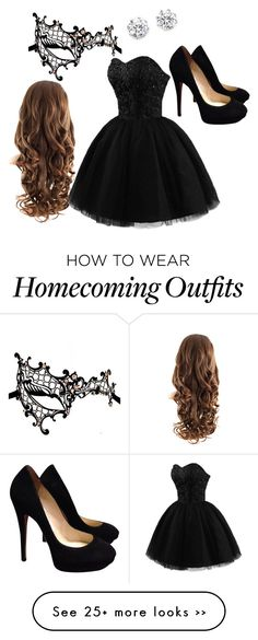 """If only Homecoming could be a masquerade…"" by kestelling on Polyvore"