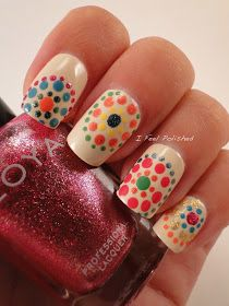 Easy Nail Art..these may only be dots.....but imma screw it up so bad lol