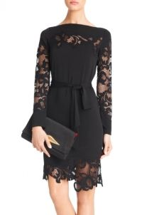 DVF Ernestina Lace Detail Dress